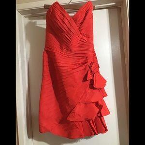 Tadashi vintage red strapless dress